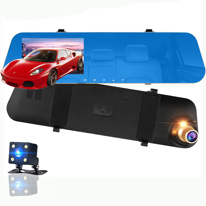 China Factory Wholesale Car Camera DVR and Front rear while fhd 32GB drive hidden car driving recorder automobile data record