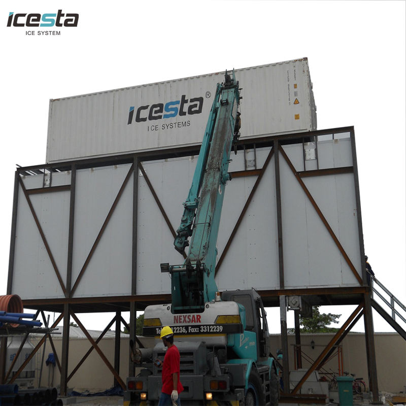 Icesta 1 ton too 200t Concrete Cooling ice maker factory machine plants