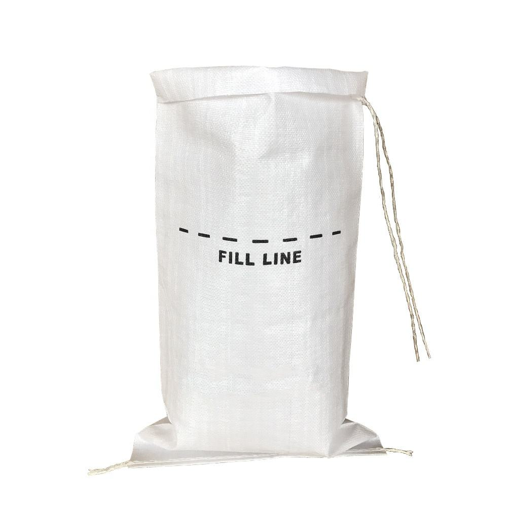 original factory white color uv-proof pp sand sack protect flood customized print pp woven bag