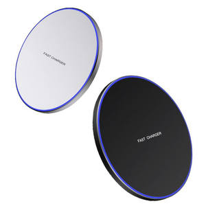Wireless Charging Pad 10W Fast Charge Metal Aluminum Mobile Phone Wireless Charger