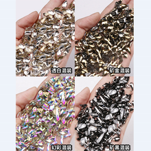 Glitter Crystal Clear AB Mix Size Rhinestone Glass Stone Nails Decoration 3D stamping Art Nails