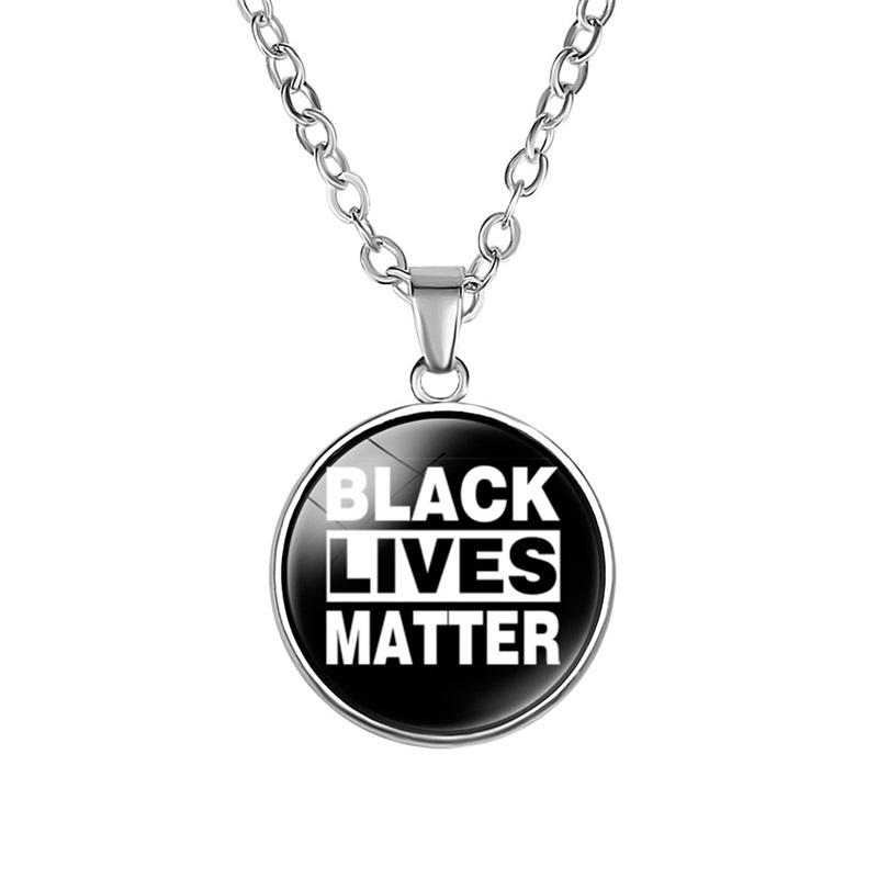 Custom i cant breathe pendant jewellery glass Photo Cabochon black lives matter Charms necklace