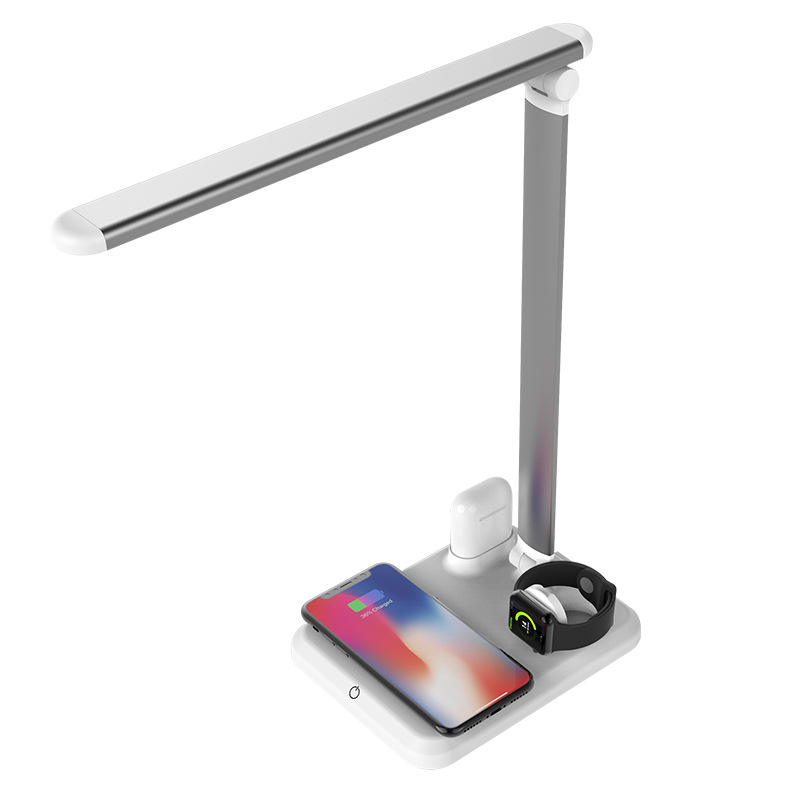 4 in 1 Qi Wireless Charger Stand Fast Wireless Charging LED Desk Lamp Table Lights