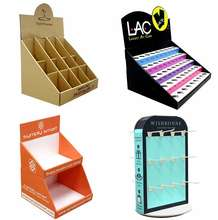 Custom Recyclable Cardboard Counter Display with Tier Hook Rotating Plate for Cosmetic Electronics Toys Books