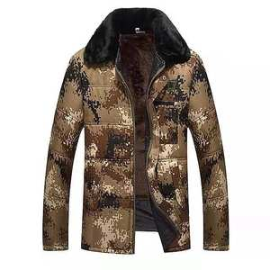 Outdoor mens Army Softshell Jacket camo down jacket