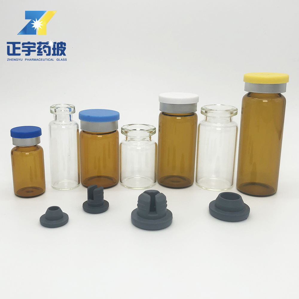 Liquid [ Glass Bottle ] Glassglassglass 2ml Glass Bottle 2ml 3ml 5ml 6ml 7ml 8ml 10ml Amber And Clear Liquid Medical Glass Injection Bottle With Cap