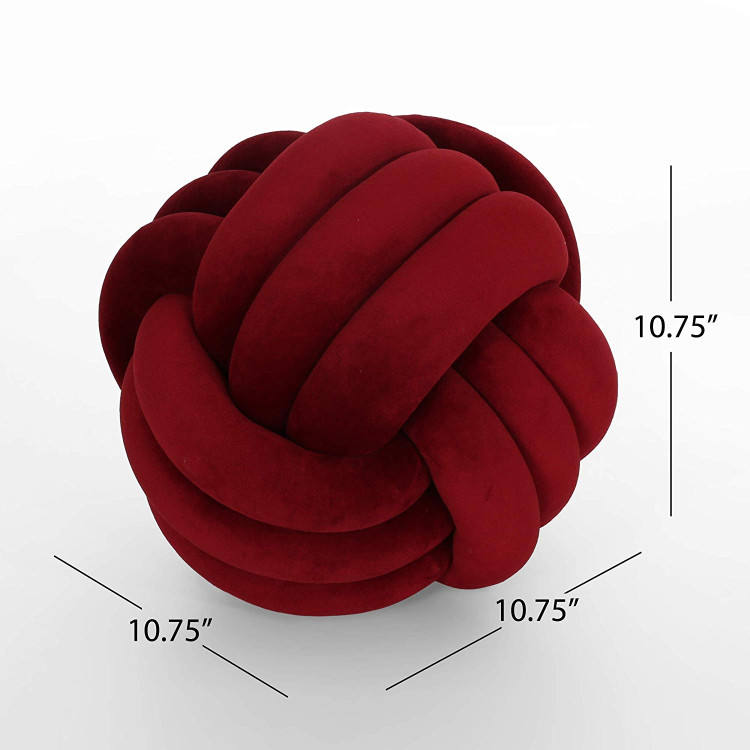 Handmade Ball Knot Throw Pillow for Bed Couch Chair Knit Decorative Floor Cushion Nursery Baby Toy Pillows Home Decor