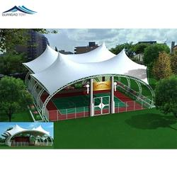 Large basketball court tensile canopy membrane structure tent basketball