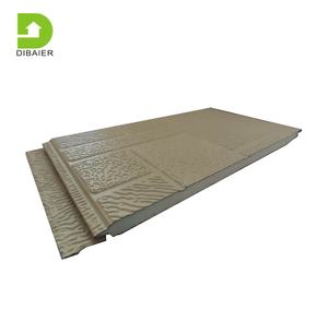 Pu sandwich panel exterior decorative outdoor prefab 16mm eps insulation foam siding insulated cladding panels