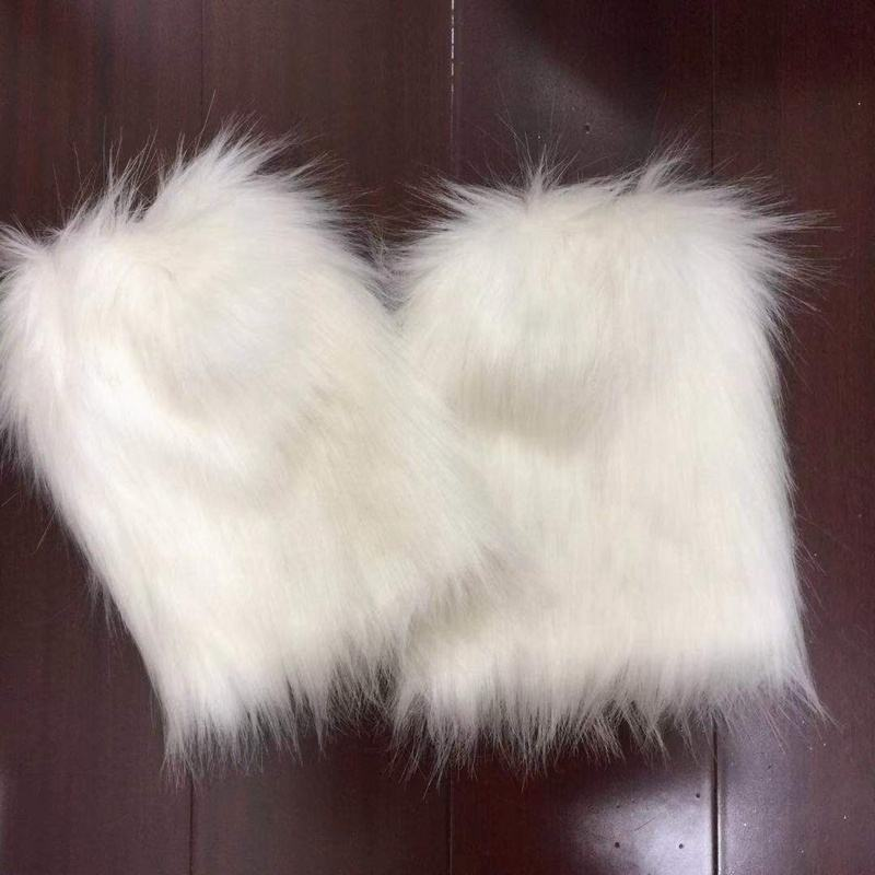 High Knee Boots Costume Accessories Mardi Gras Faux Fur Leg Warmers for adult kids