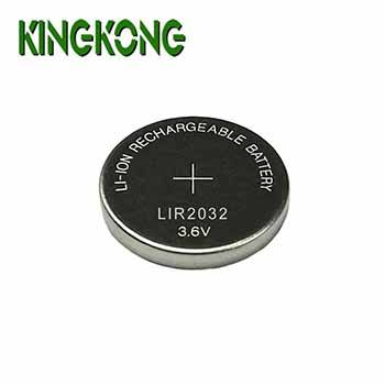 Kingkong Brand LIR2032 3.6V 45mAh Lithium Li-ion rechargeable button cell battery