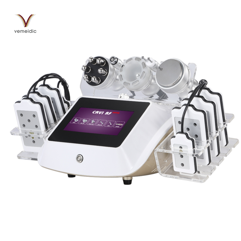 Power Assisted Liposuction Ultrasonic 6 In 1 Cavitation Lipolaser Slimming Machine