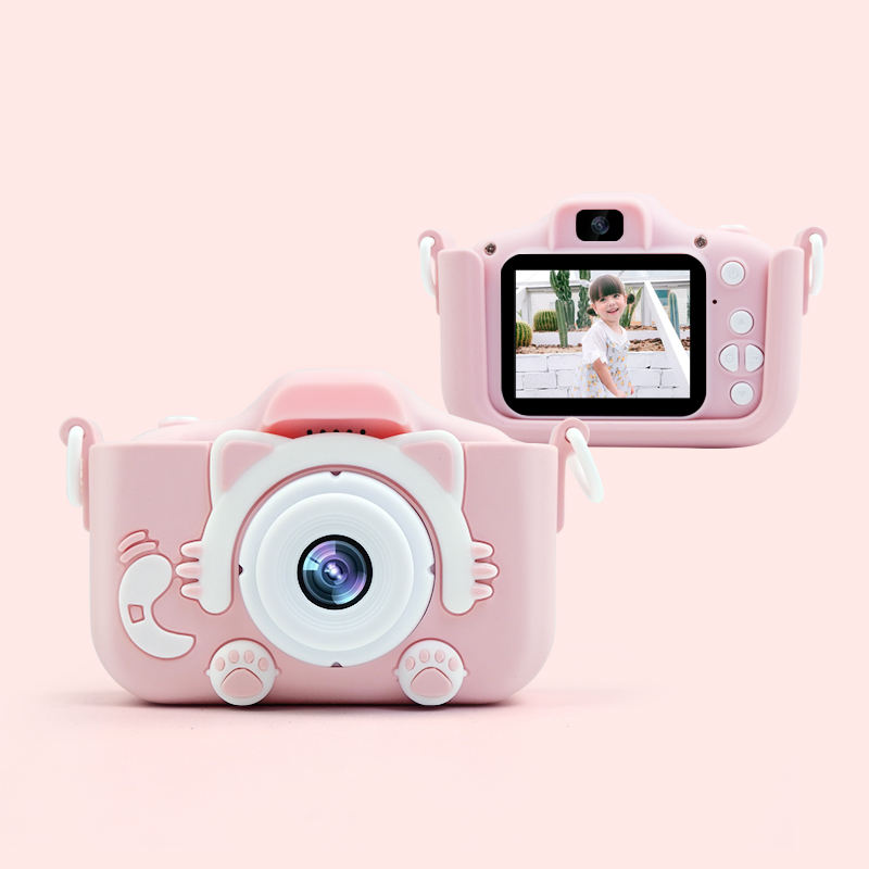Gift 2.0 Inch 1200W HD X5S Cute Animal Kids Camera, Video Recording Built-In Games Digital Camera For Children