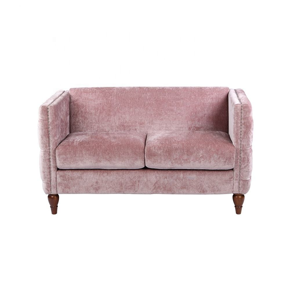 Dingzhi New Designc modern linen Couch,Latest Italy Loveseat,High Quality 2 Seater Living Room chair Sofa