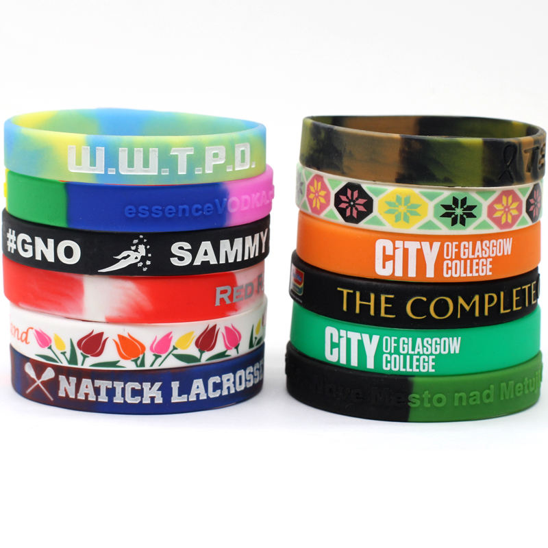 Silicone Wristband Manufacturer Design Your Own Cheap Personalized Custom Logo Silicone Wrist Rubber Band Bracelets