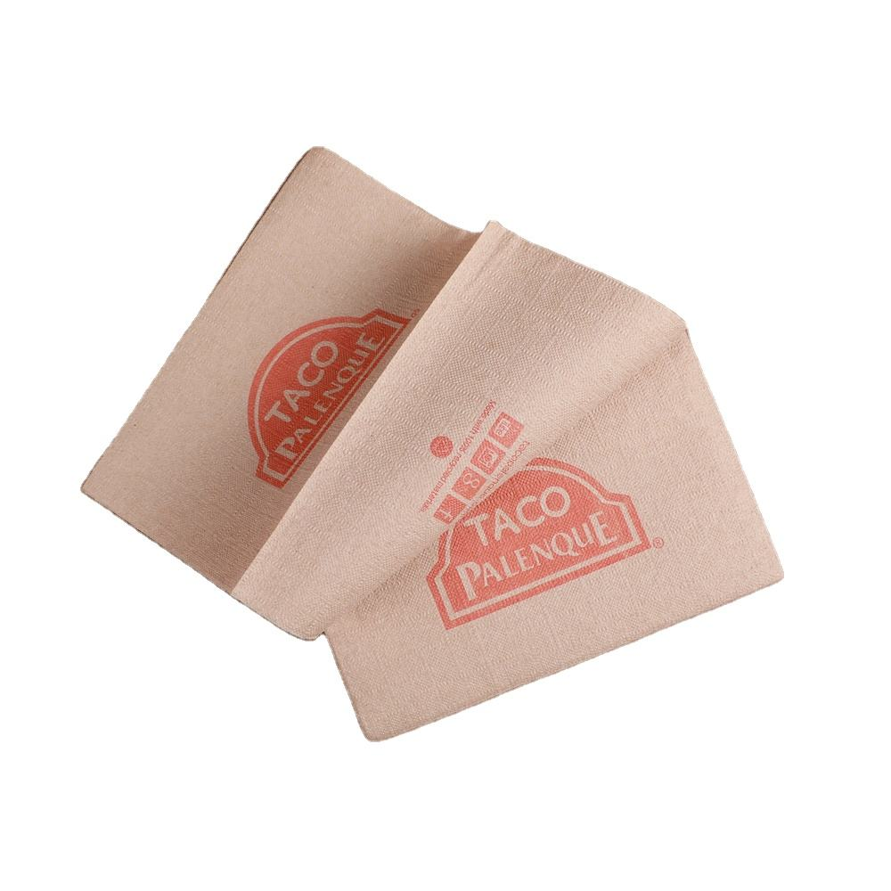 One-Stop Service [ Printed Napkins ] Restaurant Paper Napkin Custom Made Printed Logo Food Grade Paper Napkins For Restaurant