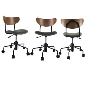 modern fabric seat swivel office chair cane back office chair study chairs for students adjustable height