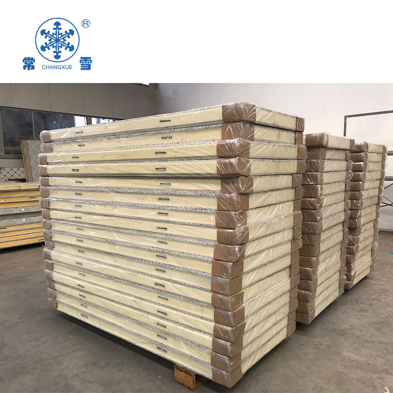 Polyurethane roof/wall/floor panel cold room sandwich panel