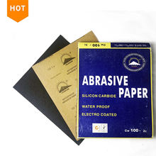 Polishing abrasive paper sheet black sanding papers water proof #60-#2000 sand paper water sandpaper