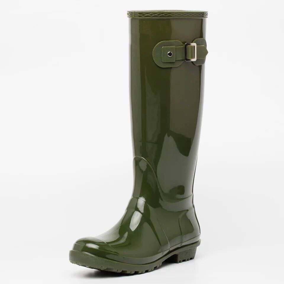 Best-selling high knee waterproof fashion ladies sexy womens pvc rain boots