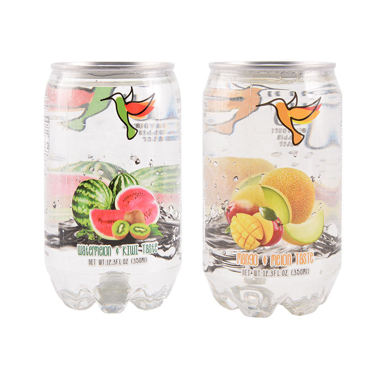 Sweety carbonated soft drink 350ml PET transparent canned Sparkling soda water
