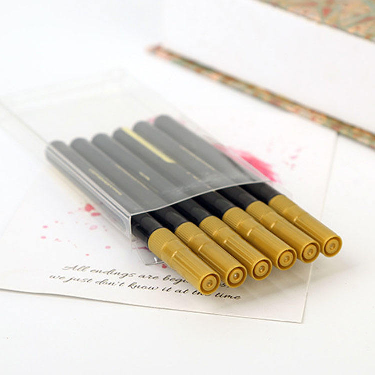 6 pieces gold best selling metallic marker pens,amazon hot sales premium fine tip metallic gold marker