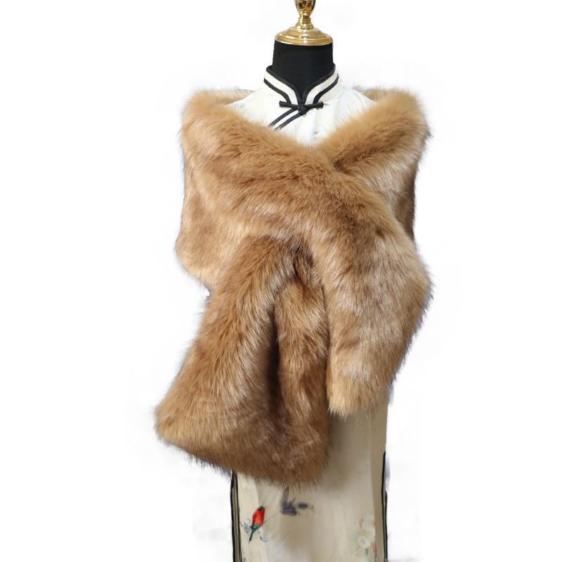 New Arrival Faux Rabbit Fur Scarf Fluffy Faux Fur Collar Customized Diy Shawl