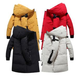 men casual outdoor long duck down jacket warm winter coat