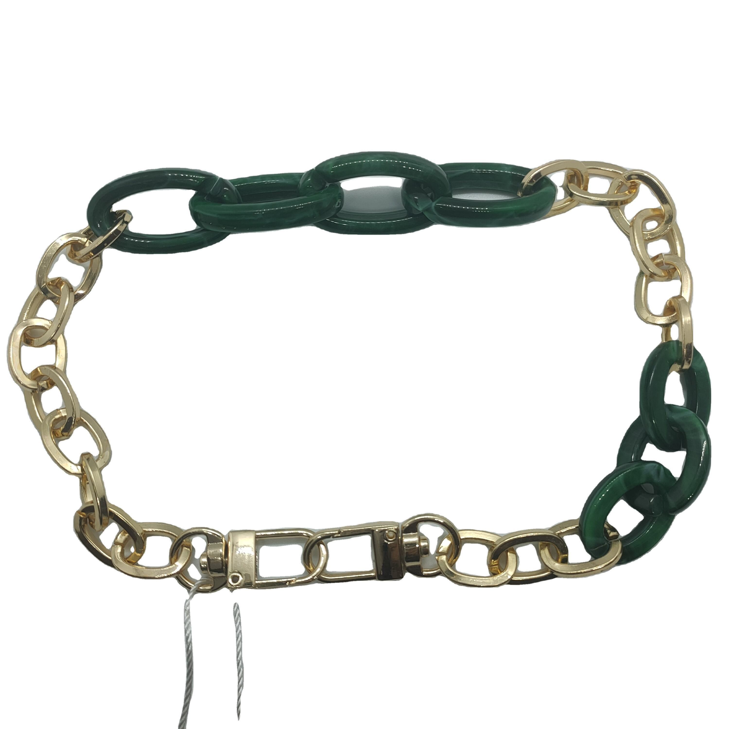 aluminum mixed with plastic chains with zinc hook decoration for handbag, shoes and cloth