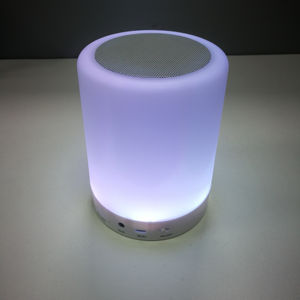 RGB color wireless portable LED touch lamp Bluetooth speaker for lighting and music