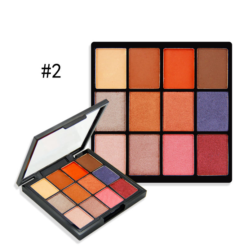 Colorful eyeshadow palette enchanter warm bright eyeshadow palette luxury high pigment eyeshadow palette private label makeup