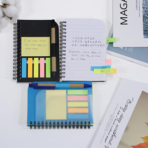 Good quality Handwritten notebook with sticky note pad memo set and pen