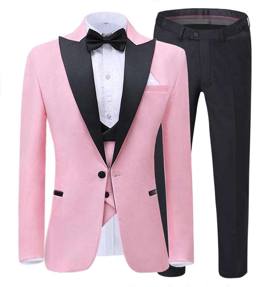 Three Pcs Slim Fit dress suit for men zentai suit men (Blazer+vest+Pants)
