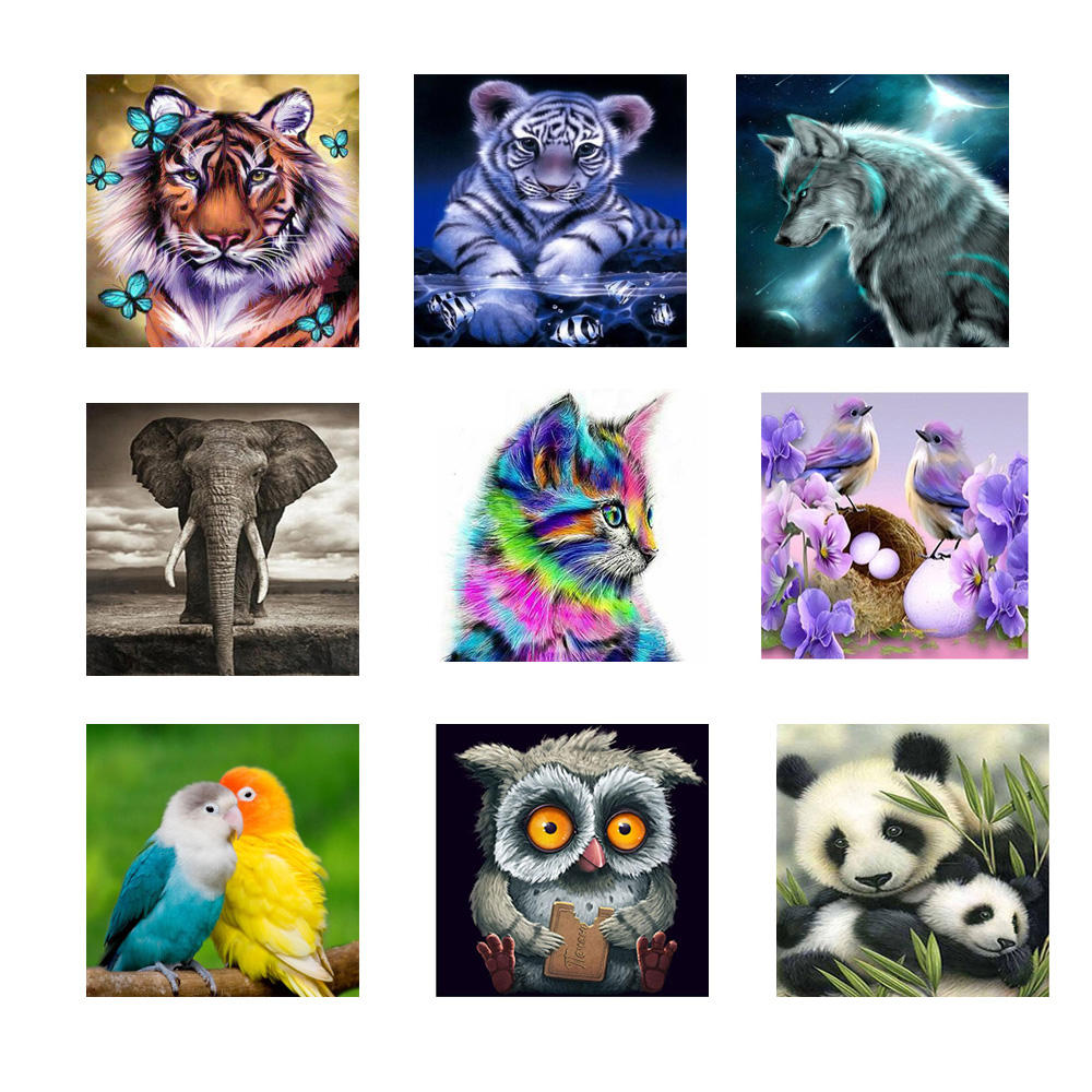 3d Diamond Mosaic Home Decor Diamond Embroidery diy diamond Painting Cross Stitch kit Animal cartoon picture
