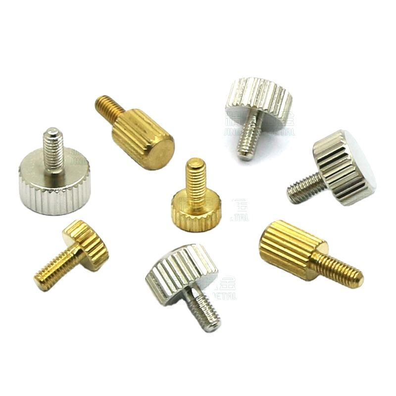 M3 M5 Brass Flat Head Hand Tighten Thumb Screws Non標準Knurled Computer Screws Length 4.5/6/6。5/7/9/10ミリメートル