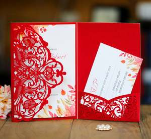 NEW Design Laser Cut Wedding Invitations Card Good Quality Wedding Cards For Wedding Guests