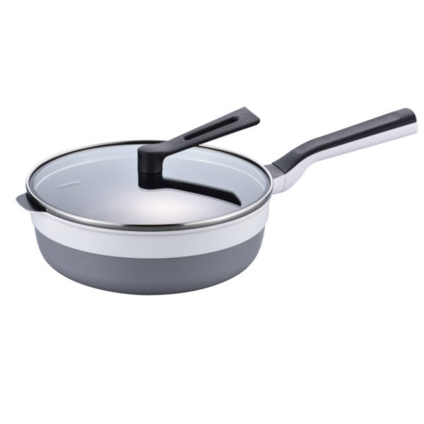 Versatile and durable percetly-balanced frying aluminium induction non-stick frying pan RHF-301 white