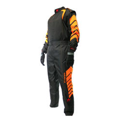 Aurora 2.0 Single Layer SFI 3.2A/1 Black/Neon Orange Rated Fire Suit Car Motorcycle Racing Suit