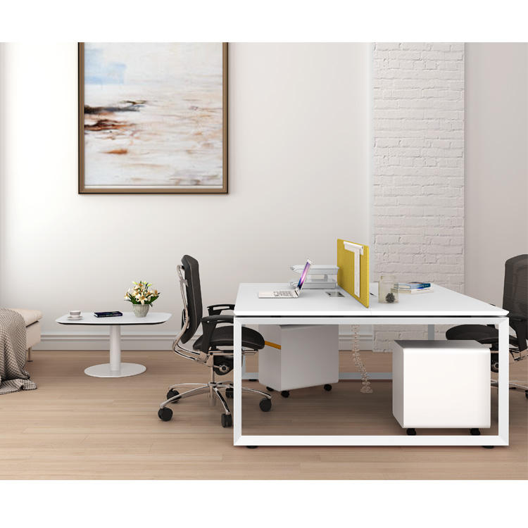 Simple design standard dimensions wonderful melamine furniture modular 2 seat office desk for 2 people