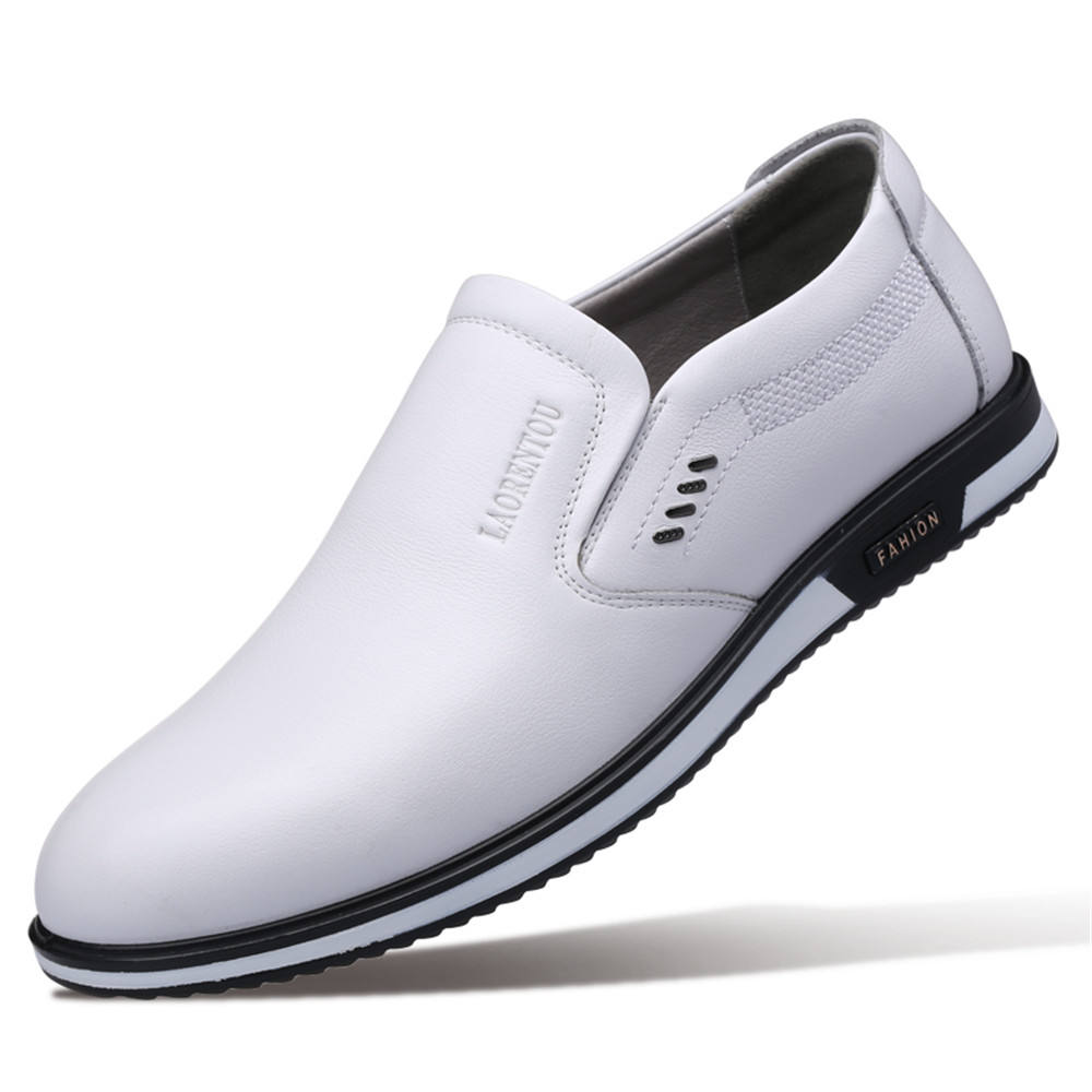 XY95068-08 hot sell men comfortable white smart casual shoes stylish light slip-on 2019