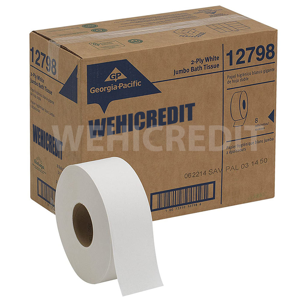Cheapest China OEM wholesale custom stock soft virgin wood pulp bulk bathroom jumbo roll toilet tissue paper with logo