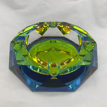 Cigarettes Cigars Octagon Large Rainbow Glass Pocket Coating Crystal Ashtray