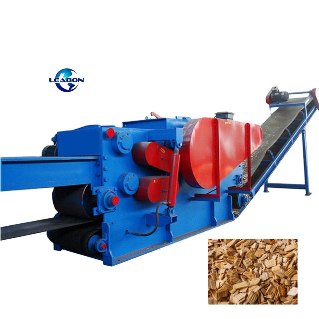 Large Productivity Drum Chipper And Shredder Wood Logs For Biomass Wood Chipper With Conveyor