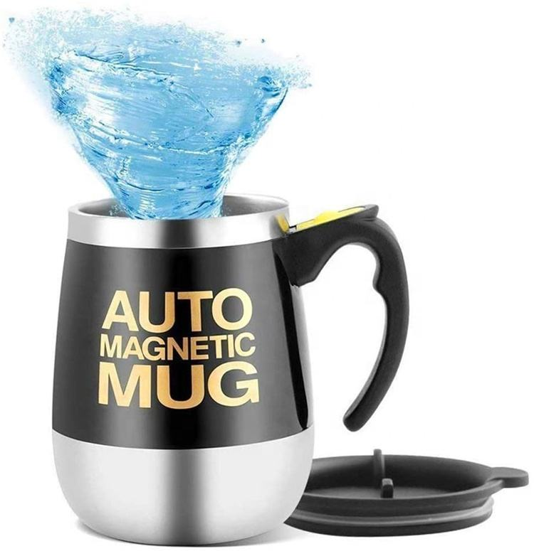 Self Stirring Mug Tea Electric Auto Mixing Cup Magnetic Sublimation Stainless Steel Coffee Cup with Handle