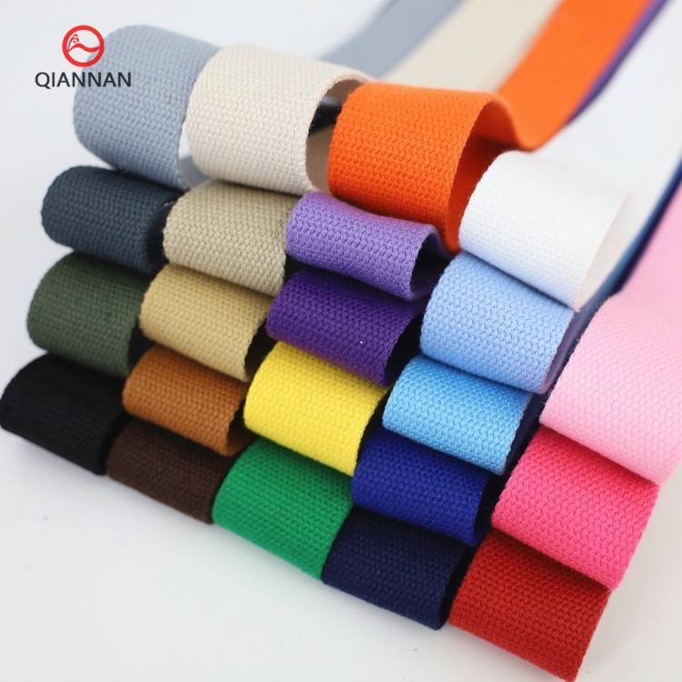 "38mm wide thickening1 1/2"" Black and White Color Cotton Ribbon Webbing Clothing Cases Bags straps Shoes and Hats Accessories"