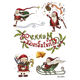 Yiwu factory christmas tattoo sticker for promotional gifts in stock A5 size