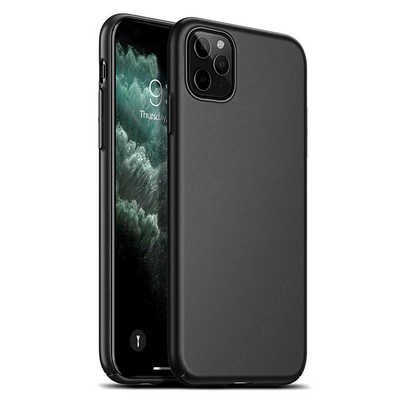 for iPhone 11 Hard Plastic Phone Case Cover Matte Black Slim PC for iPhone 11 Pro Max Hard Shell Case