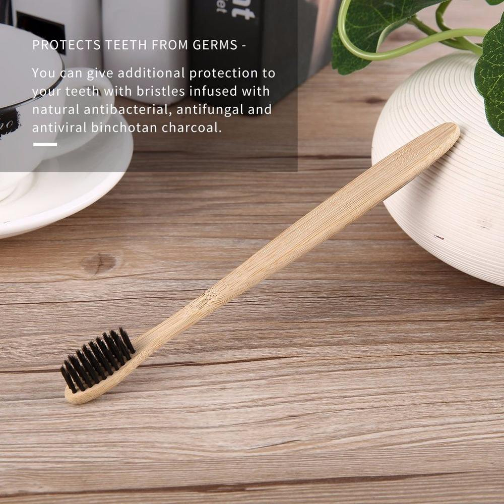 Handmade Comfortable Eco-friendly Environmental Toothbrush Bamboo Handle Toothbrush Charcoal Bristles Health Oral Care Box