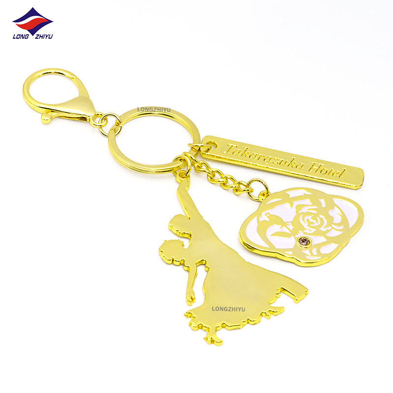 Longzhiyu 14 years china manufacturer custom metal keychain kirsite metal keychain souvenir unique keychains