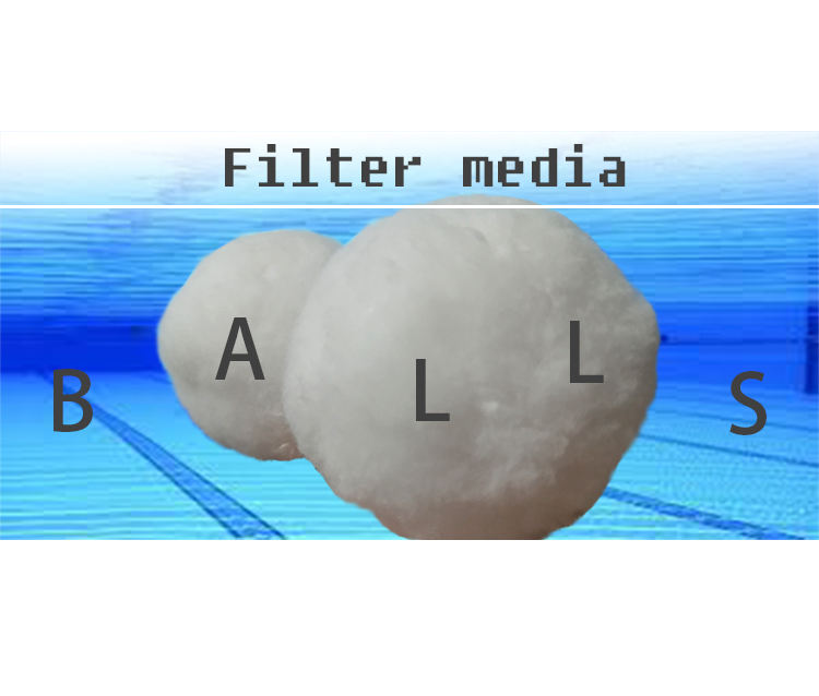 Long Lasting Machine Washable High Quality Swimming Pool Pp Fiber Balls Media For Sand Filter